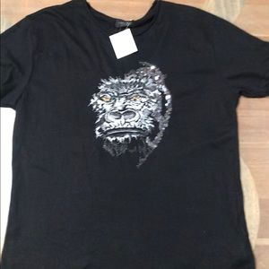 NWT Zara Man Embroidered Sequin TShirt XL